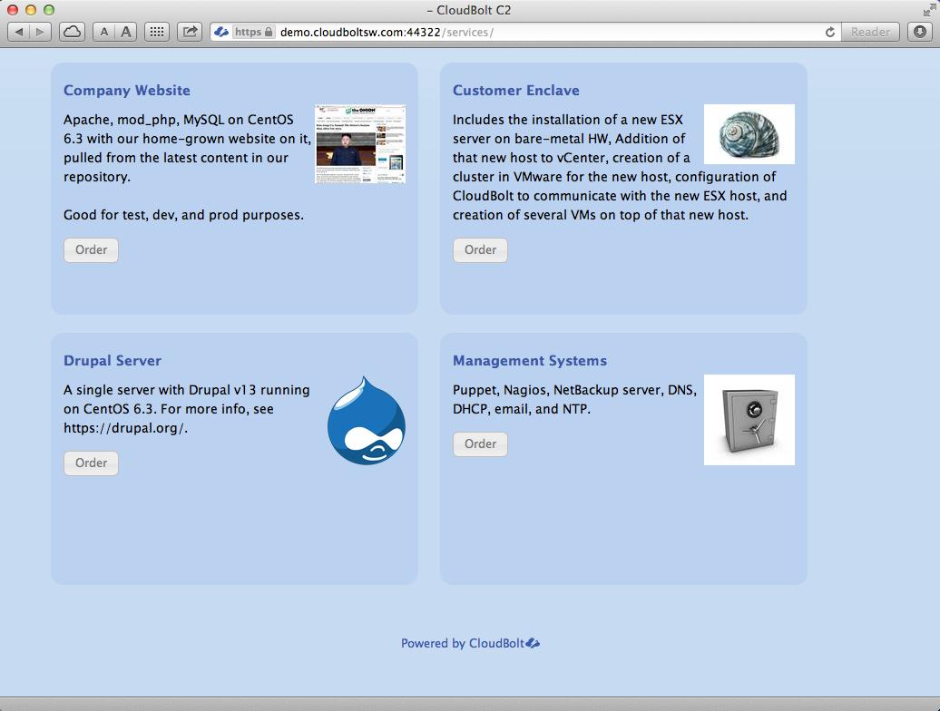C2 Service Catalog Cloud Manager