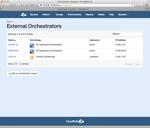 VMware vCloud Orchestrator Integrated with an IT Self Service Portal