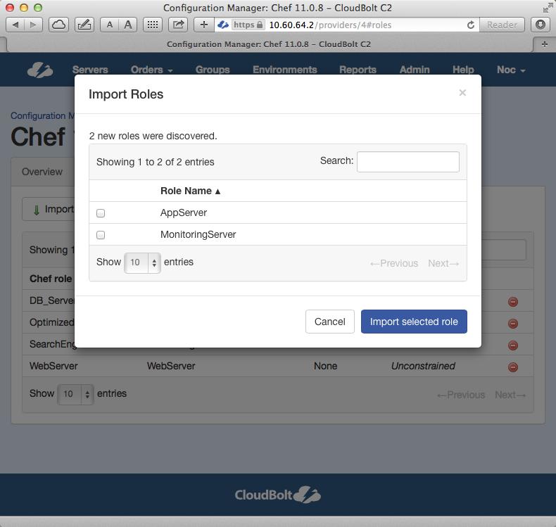 chef configuration management roles
