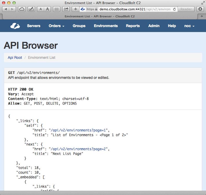 C2 API browser