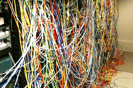 Interconnecting multiple network devices can be messy
